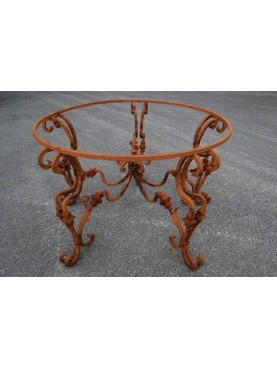 Round table Ø130cms base wrought iron