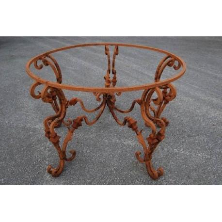 Base per tavolo Ø130cm in ferro battuto rotondo