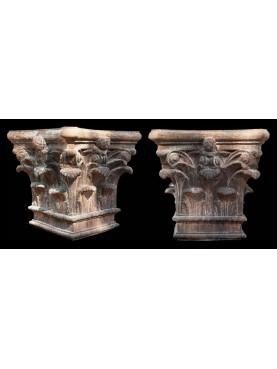Large Corinthian Terracotta Capital