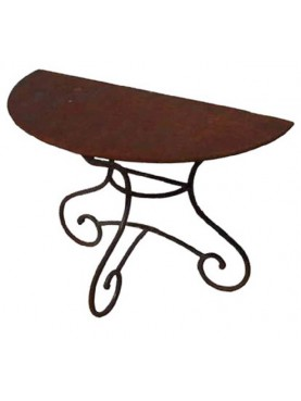 Small console table wrought iron