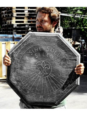 Copia di una meridiana ligure ottogonale in ardesia (Sine Sole Sileo)