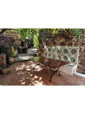 Rectangular forged iron table
