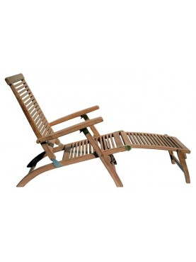 Grande chaise-longue in teak