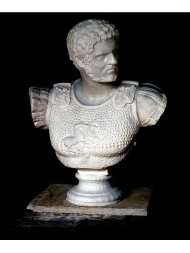 Caracalla busto in marmo bianco di Carrara
