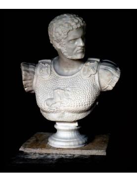 Caracalla - white Carrara marble bust