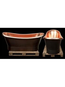 Vasca da bagno in rame modello ottocentesco