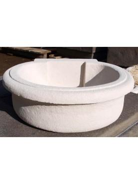 Lavandino in pietra bianca