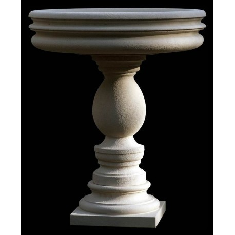 Fontana in pietra calcarea bianca francese