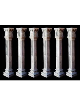 Balaustrini in cemento imitazione pietra serena
