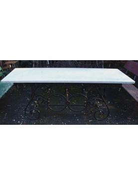 Tavolo francese 200 CM in marmo bianco di carrara