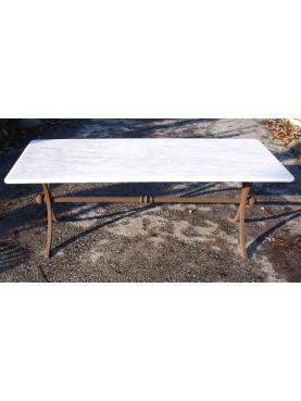 Tavolinetto in ferro e marmo 130 CM