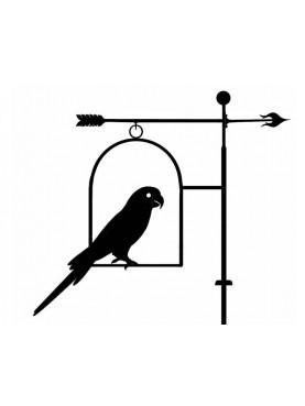 Pappagallo banderuola segnavento in ferro battuto