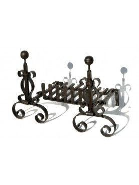 Forged iron andirons