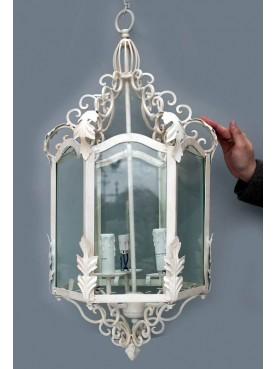Lanterna esagonale elettrificata a 3 candele