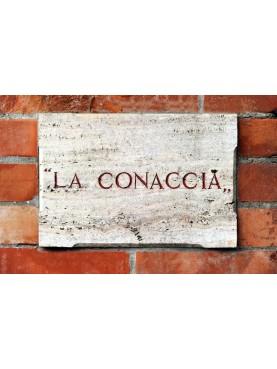 Targa identificativa Villa La Conaccia