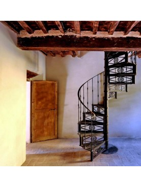 Panizza cast iron spiral staircase