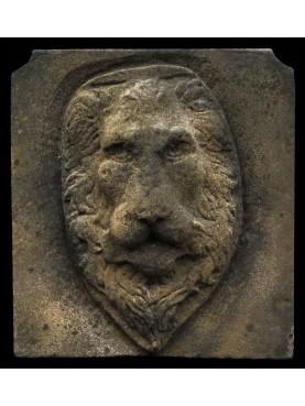 Testa di Leone in malta cementizia