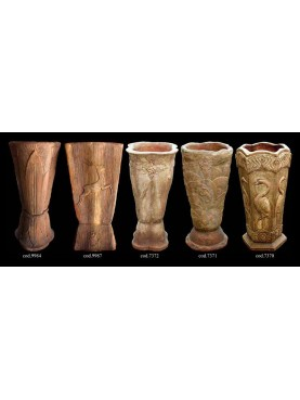 Terracotta Decò vases collection
