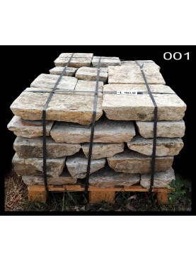 Un pallet - pietra di Filettole (Pisa) - pallet N.1 - pietra calcarea antica