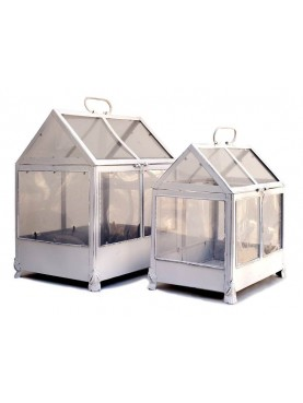 Pair of small greenhouses