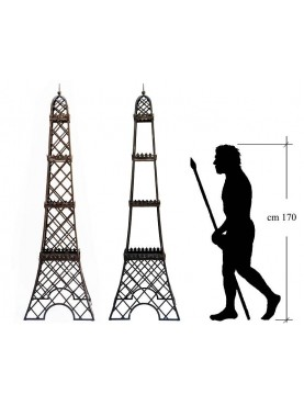 Tour Eiffel in ferro battuto sostegno rampicanti