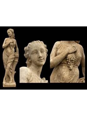 Reconstituted stone statue AUTUMN