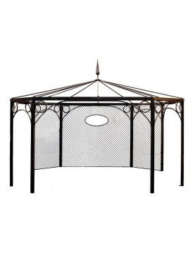 Forged Iron octagonal gazebo.