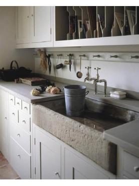 Lavandino da cucina in pietra serena