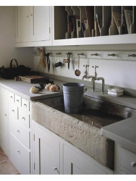 Ssand-stone Sink for kitchen - Tuscan style