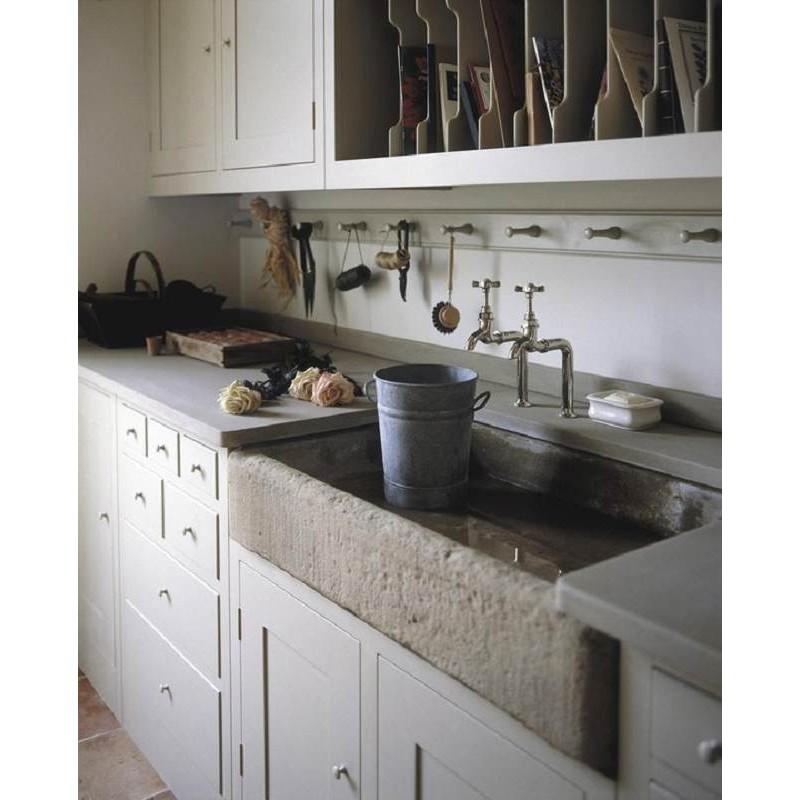 Lavandino da cucina in pietra serena - Recuperando