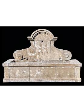 Grande Fontana con lavatoio in pietra composta da 11 pezzi - 220cm