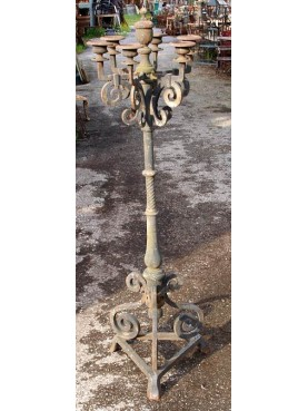 Cast iron candlestick with six arms