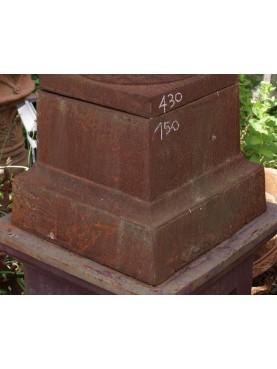 Cast iron base H.30cms/40x40cms