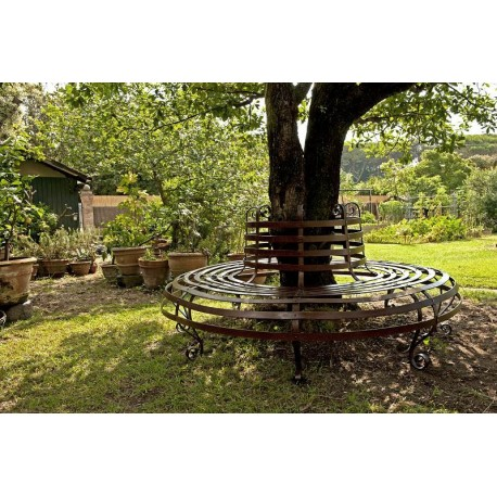 Tree bench -our production forged iron