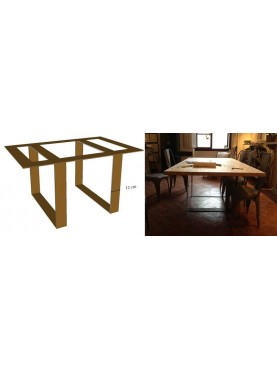 Adiutori Arch. table iron base