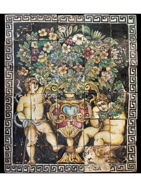 Sicilian majolica panel
