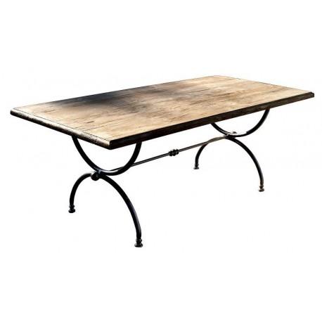 Tavolo minimalista a centine 200 CM in ferro e legno - Recuperando