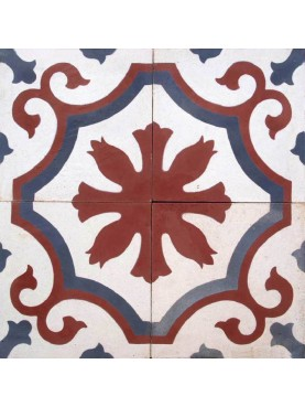 Cement Tiles RED BLUE WHITE