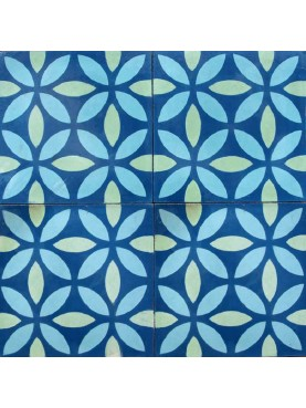 Cement Tiles BLUE TURQUOISE GREEN