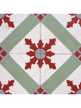 Cement tiles Red Green White Decoration