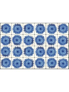 Blue sunflowers panel
