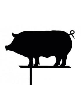 Il maiale Senese banderula segnavento in ferro