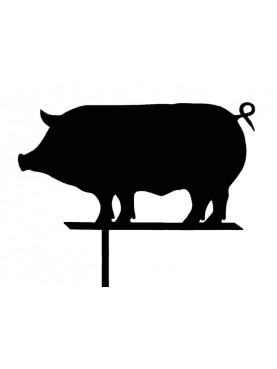 Siena boar wind-wane forged-iron