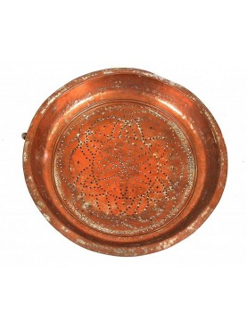 Antique copper colander