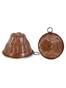 Ancient copper pudding mold