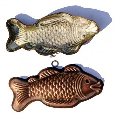 Copper pudding mold fish