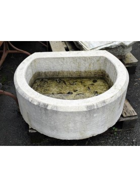 Great round stone sink
