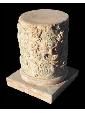 Allegorical terracotta column H.75cms/Ø50cms