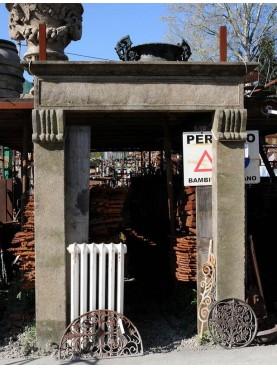 Peperino stone portal