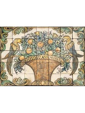 Pannello maiolicato siciliano